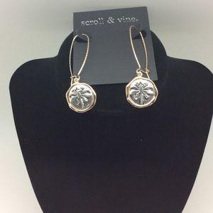Scroll & Vine dragonfly REVERSIBLE earrings